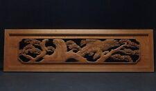 rtk4 Japanese Hand Carved Wood Sculpture Ranma Transom Hawk Pine Tree