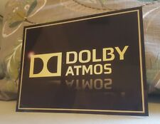 Dolby Atmos Home Cinema metal sign high sheen professional finish Theatre sign