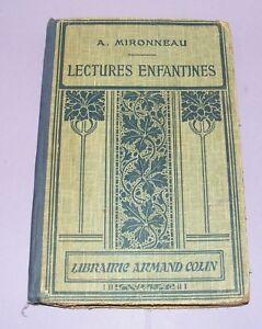 ANCIEN-LIVRE-SCOLAIRE-LECTURES-ENFANTINES-92-GRAVURES-ORNEMENTATION-PUYPLAT1929
