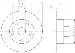 2 x Textar Bremsscheibe HA für PRO Audi A4 B5 auch Avant beschichtet 92072103