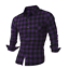 Men-039-s-Long-Sleeve-Casual-Check-Print-Cotton-Work-Flannel-Plaid-Shirt-Top thumbnail 15