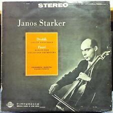 JANOS STARKER dvorak cello concerto & faure elegie LP VG+ CL 0083 Stereo Korea