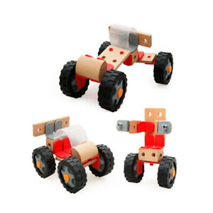 Wood-Children-Education-Assembled-Wooden-Four-Wheeled-Motorcycle-Toy-LH