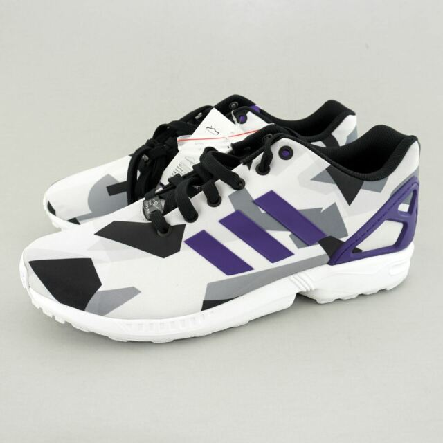 Adidas Originals Mens' (sz 10) ZX Flux Torsion Shoe (B34517) White/Purple/Black