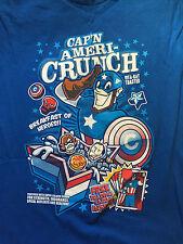 Capitán América Camiseta. Cap'n Ameri-Crunch. Talla XL. edición Limitada