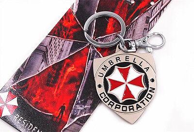 Resident Evil Umbrella Corporation Metal Keychain Keyring New