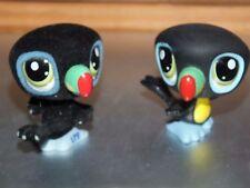 lot lps Littlest Pet Shop petshop oiseau lot de 2 (1 en velours usé) 1 normal