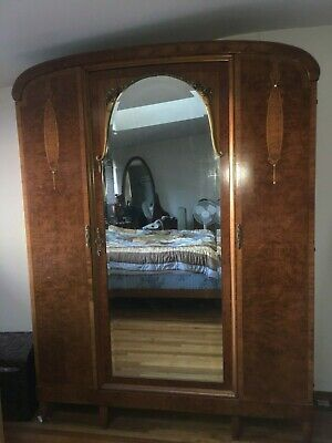 Gorgeous French Antique 7 1 2 Tall Wood Dresser Armour With Mirror 19th Century Ebay