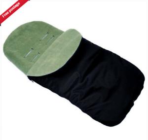 BLACK//DARK GREEN UNIVERSAL FOOTMUFF FIT  Joie Versatrax PUSHCHAIR