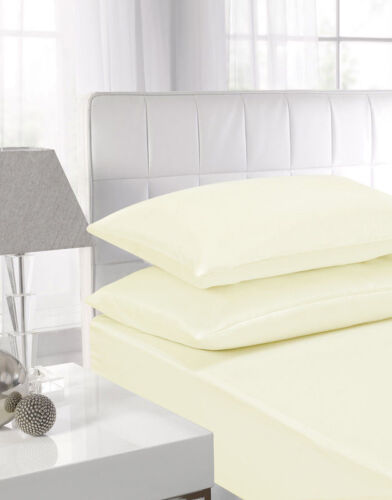Percale Quality Extra Deep 40cm Fitted sheets Single Double King Super King Size