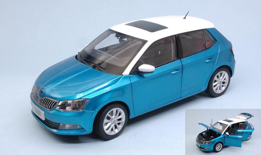 Skoda Fabia III 2015 Blue Metallic 1:18 Model ABREX