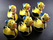Vintage Set of 6 Cute Ducks Salt Pepper Spice Shakers Lefton Japan (W3-6)
