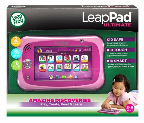 Best Gift for Girls NEW Leapfrog Leappad Ultimate Pink Tablet in Retail Pack