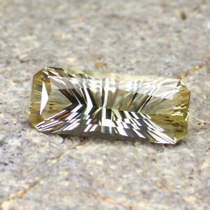 Gold-Green-Oregon-Sunstone-6-28Ct-Flawless-Perfect-Konkav-Cut-For-Top-Schmuck