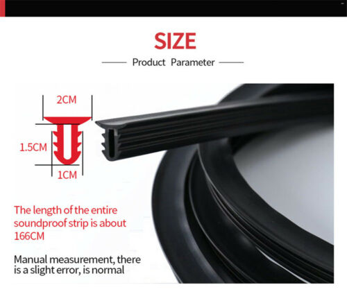 1.6m Sealing Strip Noise Soundproof Anti-dust Seal For Car Windshield Dashboard
