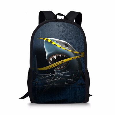 1ef17be2f8b2 Shark Womens Girls Shoulder Rucksack Bookbag Cool Backpacks for School  Travel | eBay