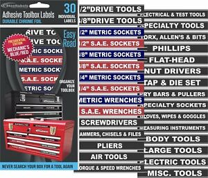 Adhesive-TOOLBOX-LABELS-Blue-Edition-Fits-all-Craftsman-Tool-Chest-amp-Drawers