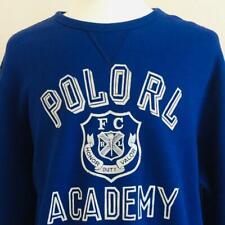 New Mens Polo Ralph Lauren RL Academy Crew Neck Fleece Sweatshirt Sweater XL