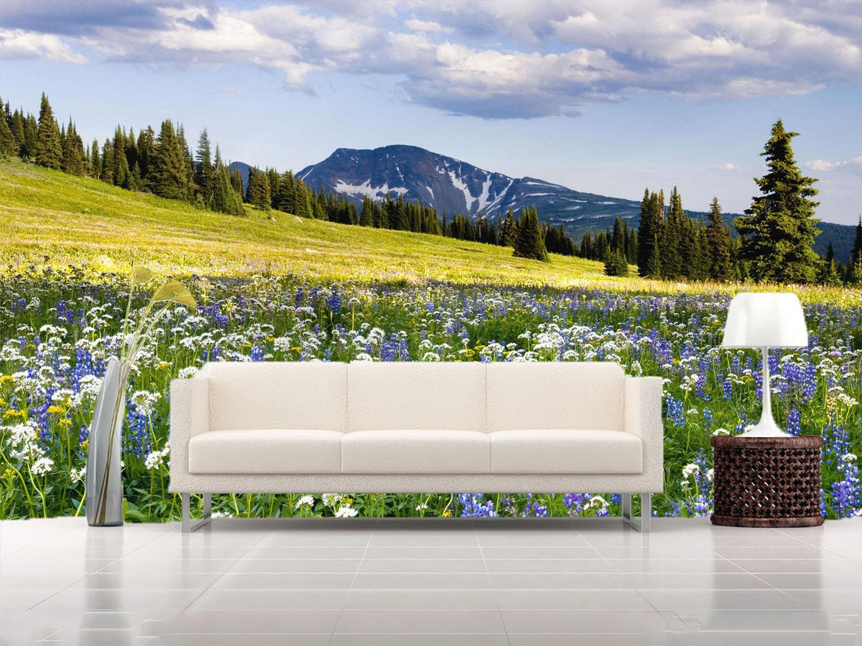 3D Flowers Field Sky 039 Wall Paper Wall Print Decal Wall AJ WALLPAPER CA