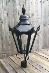 Image Is Loading Large Hexagonal Black Lantern Street Light