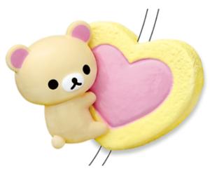 Rilakkuma CORD KEEPER Rilakkuma Sweets  2 Heart cookie  Japan Re-Ment  Japan