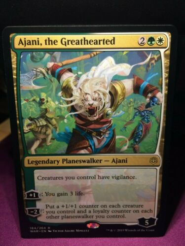 the Greathearted Mint MTG Magic Card Rare War of the Spark #184 Ajani