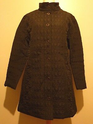 Tigi Woodland Contrast Quilted Textured Coat Sizes 10-20 BNWT RRP £55 Charcoal