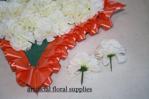 20 oeillet picks fleurs artificielles mariage hommage funèbre fleuriste sélectionnez col