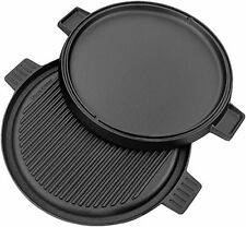 Utopia Kitchen Pre Seasoned Reversible Cast Iron Pizza Pan Grill And Griddle