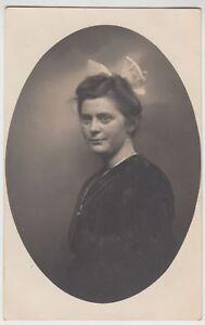 (f15494) Orig. Photo Portrait Jeune Femme En Ovale 1910er-afficher Le Titre D'origine