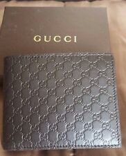 Gucci Wallet Micro GG Print Bi Fold Brown Gucci Leather NIB 260987
