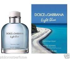 Dolce and Gabbana Light Blue Swimming In Lipari Cologne Men 4.2 oz New In Box
