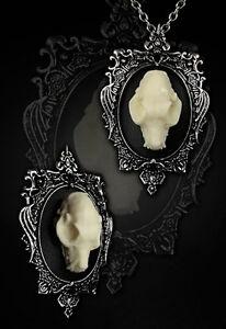 Restyle-Halskette-Brosche-SET-3D-Gothic-Halloween-Vampire-Bat-Skull-Necklace-w