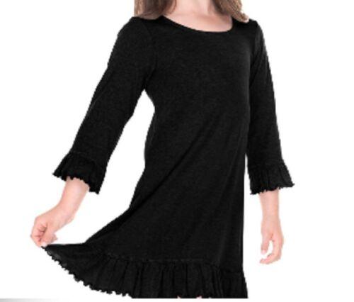 Ruffle Dress 3//4 Sleeve A-Line 6M-24M 3T-6X ALL SEASONS Cotton Adorable!