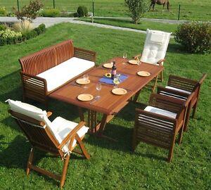 Gartenmöbel Sitzgruppe Holz Massiv Mixed Incl Auflagen Garten Set