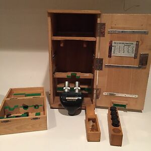 Vintage-Heidelberg-Research-Model-Microscope-Case-Fast-Shipping-Rare-wow