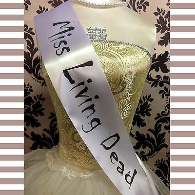 HALLOWEEN SASHES - Prom Queen / Zombie / Bride / Nun Halloween Fun Fancy Dress