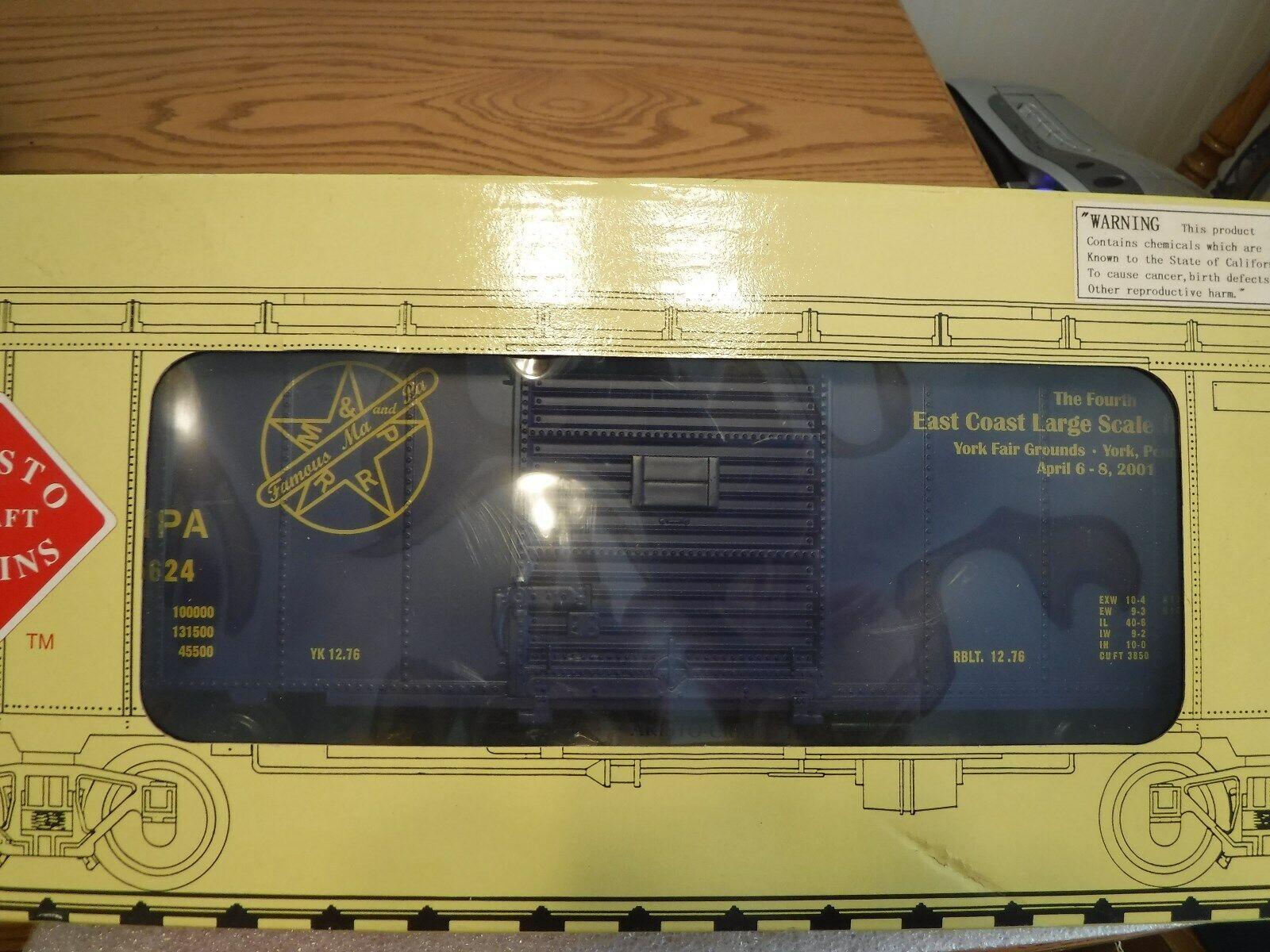 New Aristo-Craft ART-46092 Maryland & PA Steel Box Car #1 Gauge 1/29 Scale  NIB