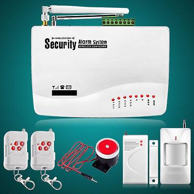 J1 Wireless GSM SMS Home Security Burglar House Fire Alarm System Auto Dialer US