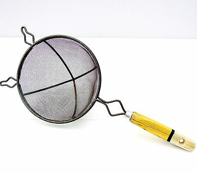 Vintage Retro Yellow Handle Sieve Strainer Sifter
