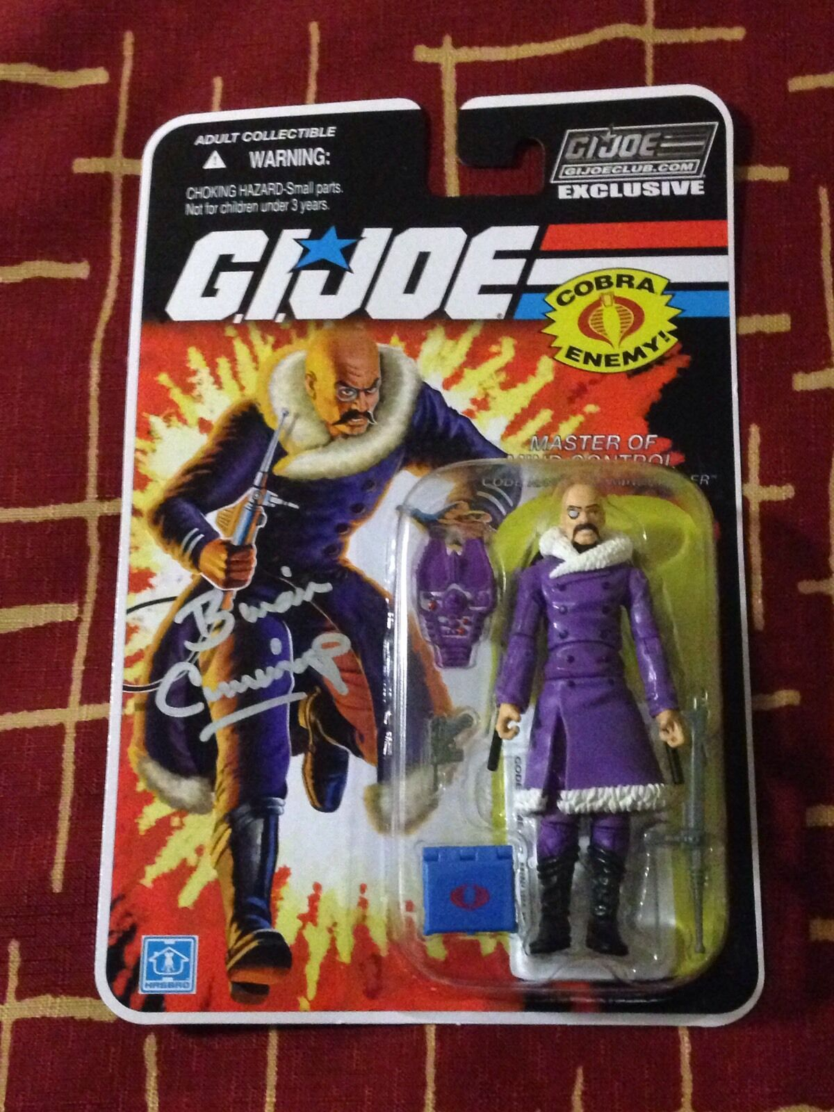 2015 GI JOE CLUB JOECON Attendee EXCLUSIVE Signed Carded DR MINDBENDER Autograph