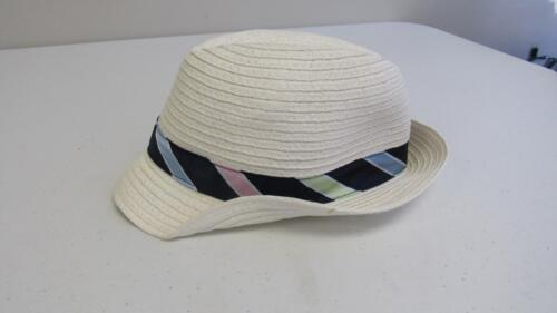 Gymboree Spring Celebrations White Woven Hat w// Stripes Size 12-24 Mos NEW TL24