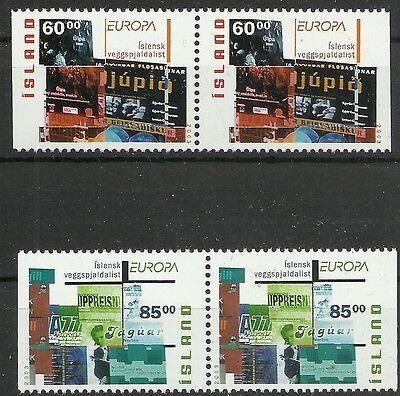 Europa PräZise Cept 2003/ Island Minr 1038/39 Dl/dr ** 2 Paare Cept/europa Union & Mitläufer