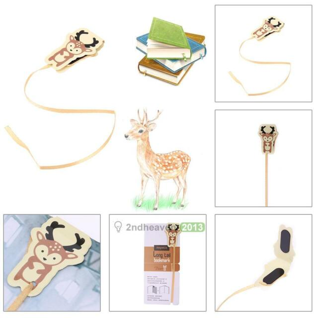 Novelty Cute Animal Deer Bookmark Paper Clip School Office Supply Note Accessory