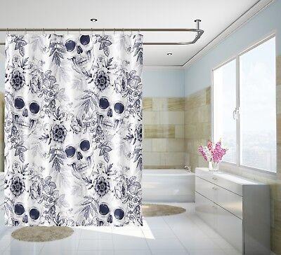 Home & Garden 3d Schädel Blume 89 Duschvorhang Wasserdicht Faser Bad Daheim Windows Toilette Save 50-70% Shower Curtains
