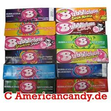 10 x 5 Bubblicious Kaugummis USA (5 Sorten) (26,30€/kg)