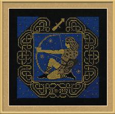Zodiac Sign Sagittarius Counted Cross Stitch Kit Riolis