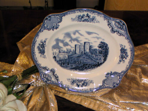 Placa adueñado 26,5 cm johnson Bros England Old Britain Castles azul Top