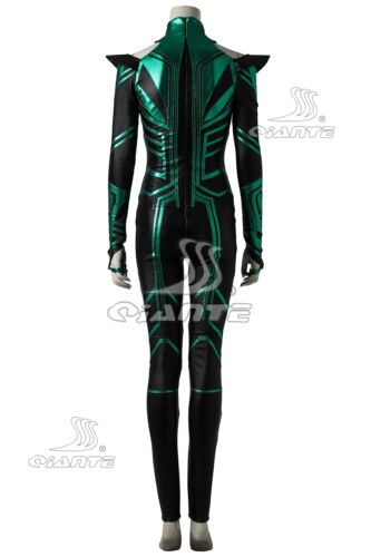 New Thor 3 Ragnarok Trailer Hela Cosplay Costume Green Jumpsuit Cape Fancy Dress