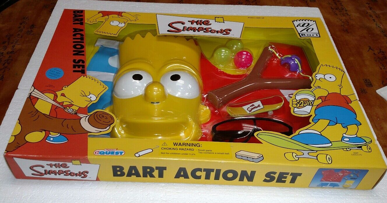 2000 THE SIMPSONS BART ACTION SET MANLEY TOY QUEST BRAND NEW